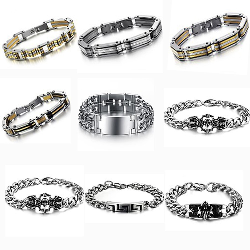 (min order $10)5pcs/lot top quality 316L stainless steel bracelets personalized bangle for man free shipping<br><br>Aliexpress