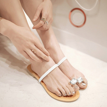 Plus Size 35-42 Summer Flip Flops Casual Women's Slippers Female Slides Fashion Rhinestone Diamond Flat Sandals Shoes Woman
