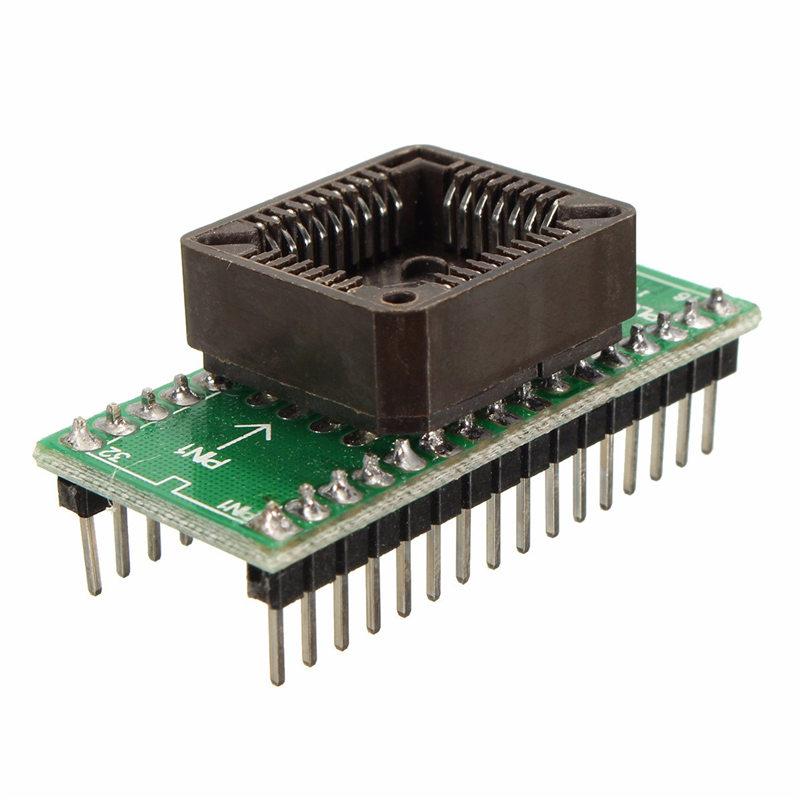 1PCS PLCC32 to DIP32 EPROM Flash Program Adapter Socket Connector For Programmer For Xeltek For Labtool For EasyPRO For SmartPRO(China (Mainland))