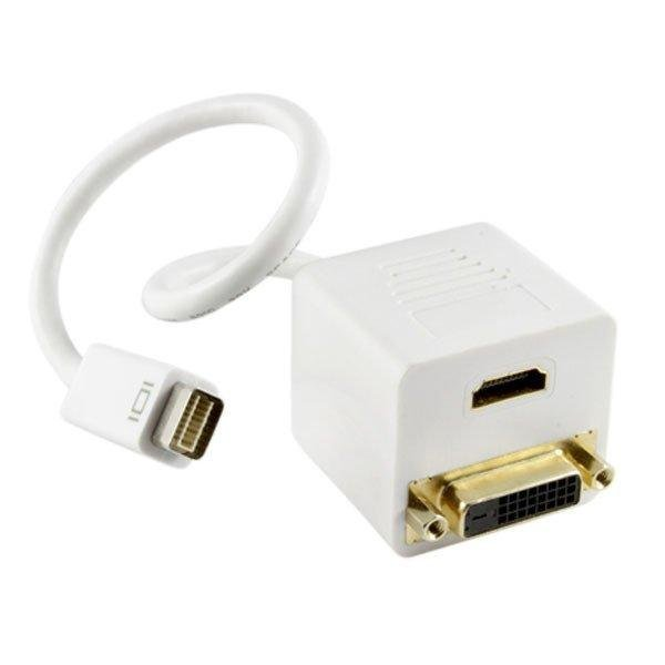 MINI DVI HD adapter/transition line go DVI+HDMI 15CM