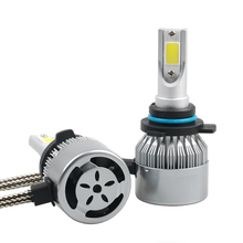 Buy 1 Set 72W 7600LM COB Chip C6 LED Headlight 36W 3800LM H1 H3 H4 H7 H8 H9 H11 9005 9006 9012 9004 9007 H13 Car LED Headlight Bulb for $15.34 in AliExpress store