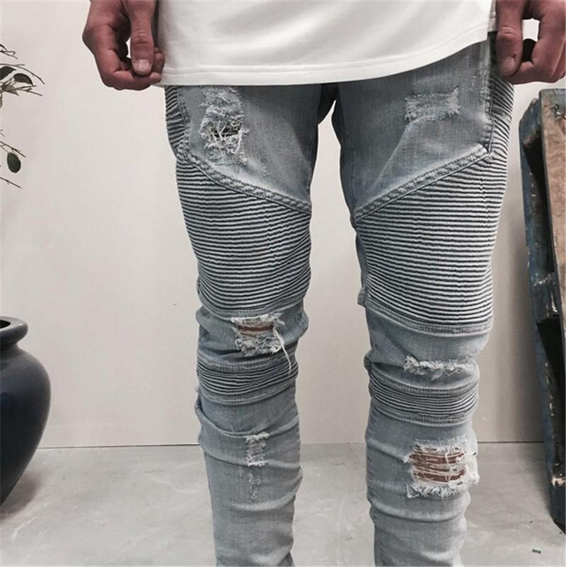 Popular White Rip Jeans Men-Buy Cheap White Rip Jeans Men lots ...