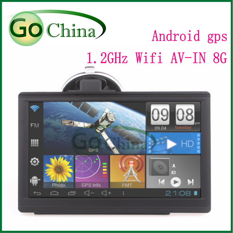 7 inch Car GPS android OS, A13 android GPS 7inch 1.2GHz 512M 8G, AV-IN for rear view camera, wifi(China (Mainland))
