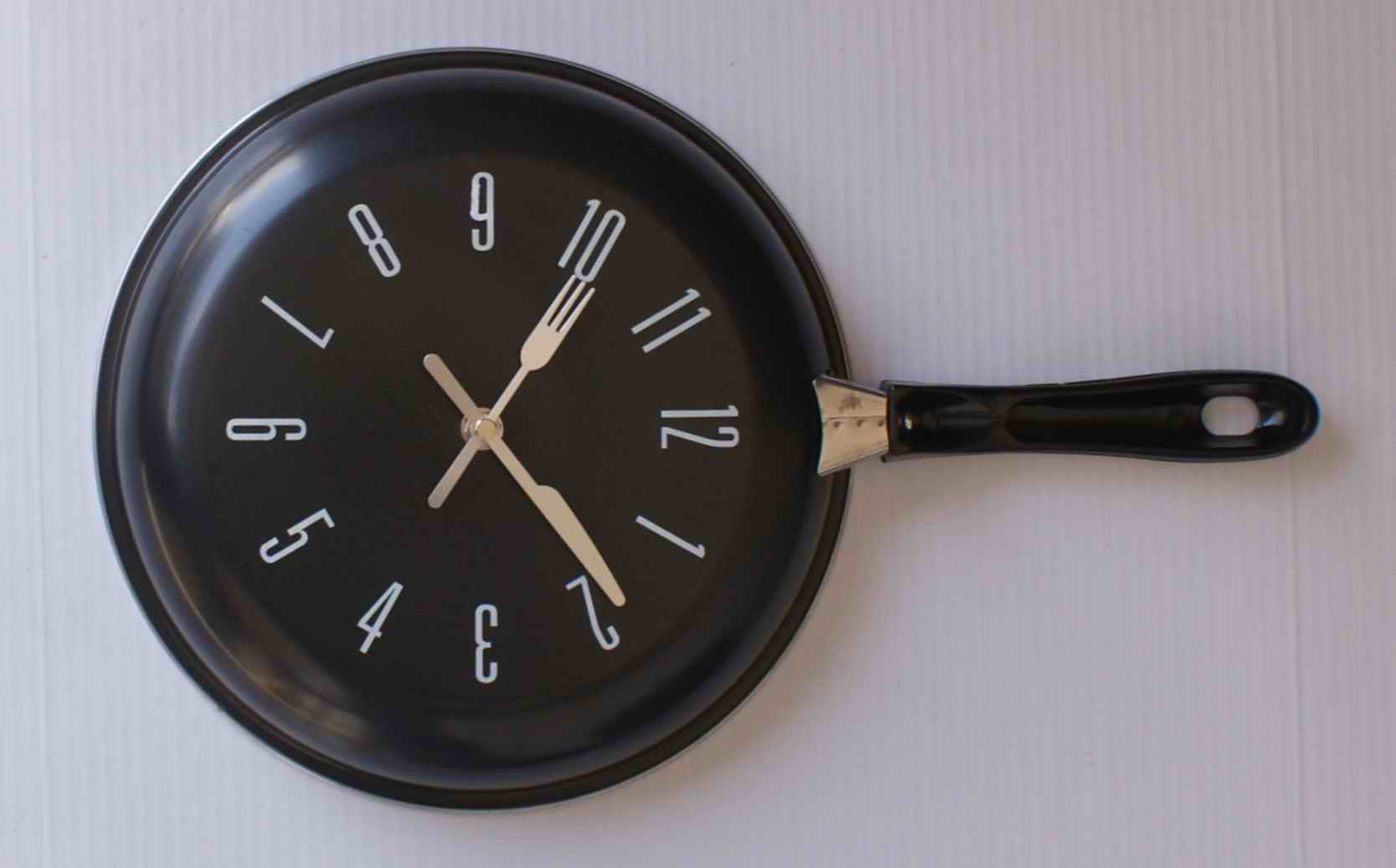 Modern Fork And Spoon Kitchen Wall Clock In Wall Clocks