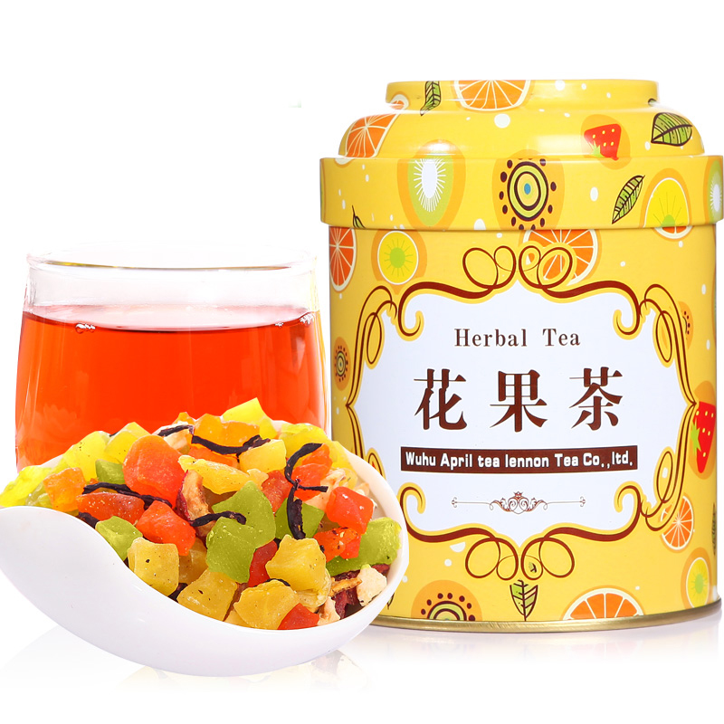 Promotion! 5A 150g Chinese fashion fruit tea delay senility flavored tea lose weight the Improve immunity blend tea(China (Mainland))