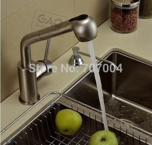 Здесь можно купить  Kitchen Deck Brushed Nickel Pull Out Nozzle Sink Faucet Water Tap Swivel Spout Kitchen Deck Brushed Nickel Pull Out Nozzle Sink Faucet Water Tap Swivel Spout Строительство и Недвижимость