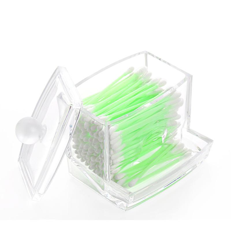 Clear Acrylic Cotton Swab Q-tip Storage Holder Box Cosmetic Makeup Organizer, Box Storage Cosmetic Holder(China (Mainland))