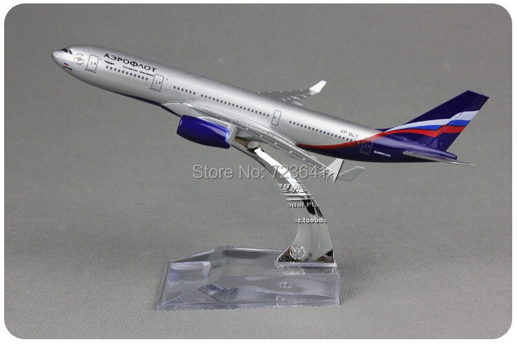 HOT Aeroflot Airlines A330 plane model Russian International Airlines Airbus A330 aircraft 16cm metal simulation airplane model(China (Mainland))