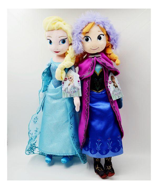 High-quality Toys 50cm 20 inch Dolls Elsa Anna Plush Doll Action Figures Plush Toy Christmas Gift(China (Mainland))