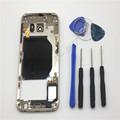 Original Phone Case White Blue Gold Full Housing Cover Case Middle Frame Cover Case For Samsung