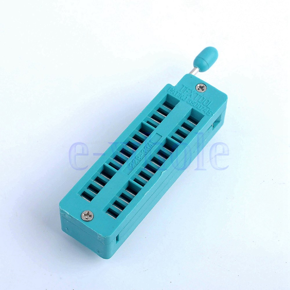 1PCS Green Narrow ZIF 28 Pins Test Universal IC Socket AA2097