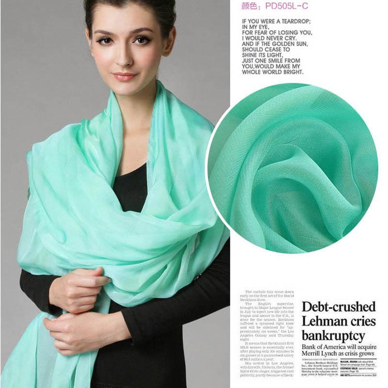 New fashion scarf women Lady scarves Soft Silk Chiffon candy Women Ultra big SIZE wrap High Quality Wrap Shawl Stole Greens(China (Mainland))