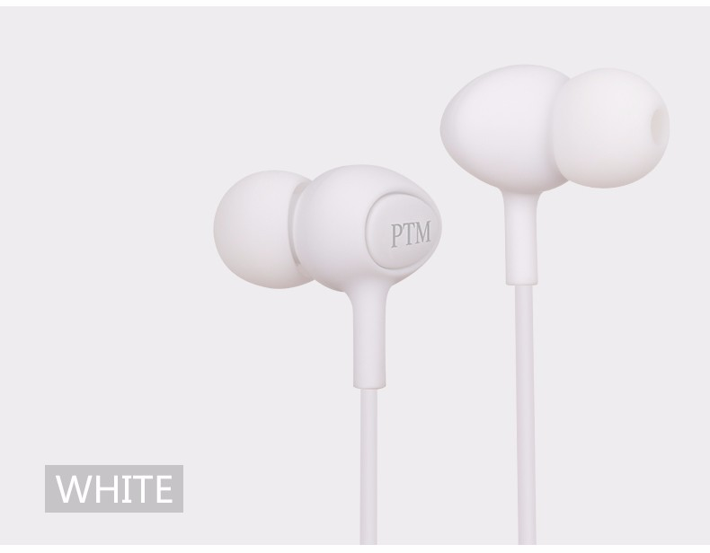 PTM In ear Noise Canceling Earphone Headphone Portable Sport Headset Bass Hifi Earbuds with mic for iPhone Phone MP3