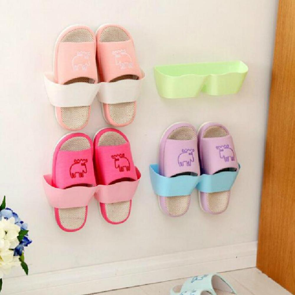 1 PCS Waving Wall Mounted Shoe Rack Storage Stereo Rack Living Room Bathroom(China (Mainland))