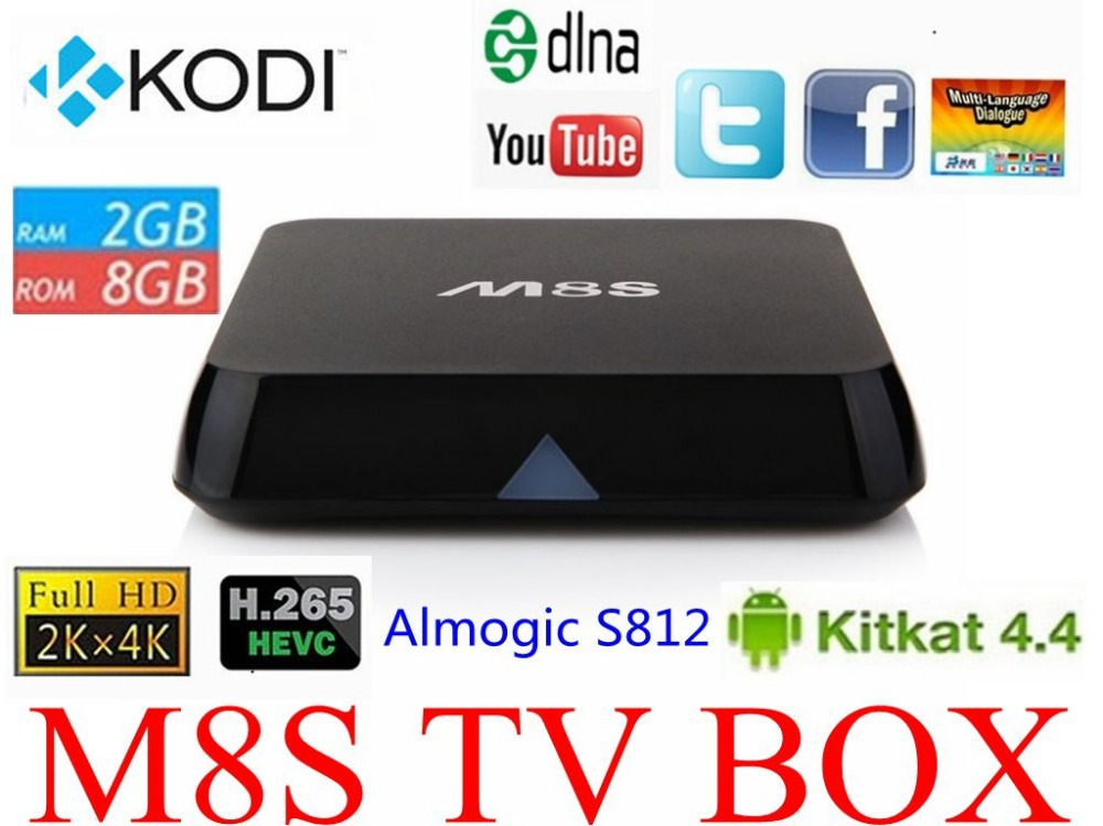 Original M8S Android TV Box 2G/8G Dual band 2.4G/5G wifi Android 4.4 Amlogic S812 Chip 4K XBMC Full HD Smart tv Media Player M8(China (Mainland))