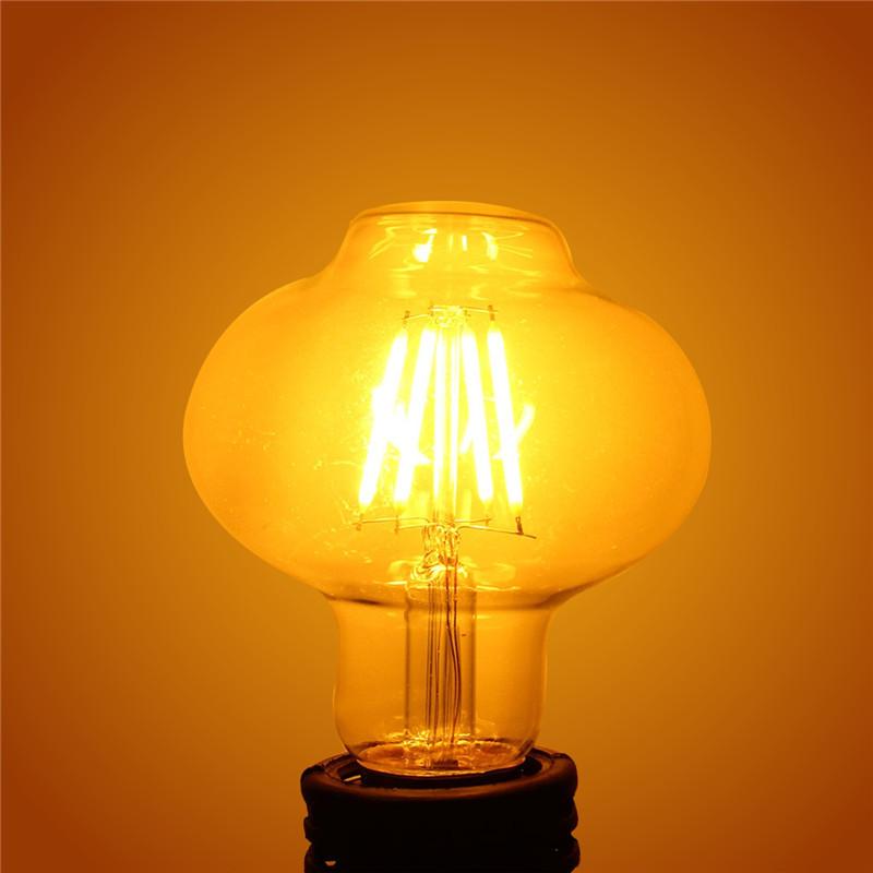 Kingso E27 4W LED Edison COB Industrial Retro Vintage Antique Filament Light Bulb Lantern Shape Lamp Warm/Pure White 220V(China (Mainland))