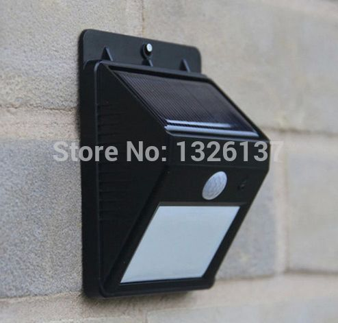 HIGH QUALITY Solar motion Light Wall Mounted Ray/PIR Motion Sensor Detector Activated /Garden Yard Steet Solar Lights Waterproof(China (Mainland))