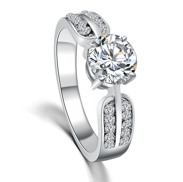 real gold with cz wedding ring