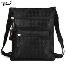 19.5*22.5cm Black and Brown 2 Color Fashion Denim Thread Pattern Bag Men Men's travel bags Purse QQ1895