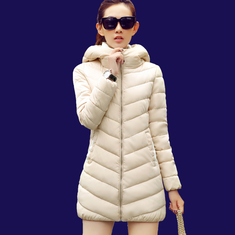 2015 New Winter Women Duck Down Jacket Fashion Slim Long Women Causal plus size outerwear ultra light girls(China (Mainland))