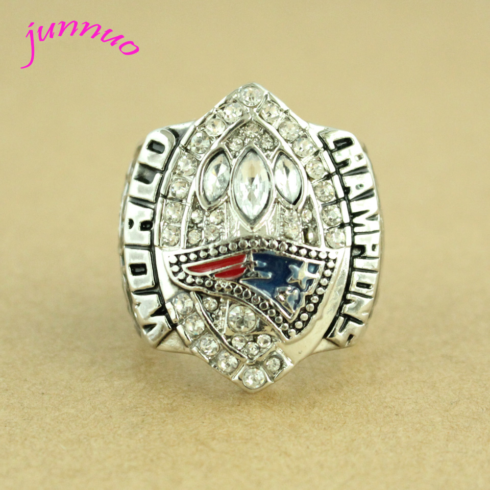 High Quality New England Patriots Authentic 2004 Super Bowl XXXIX Champs Ring Sz 11 Silver