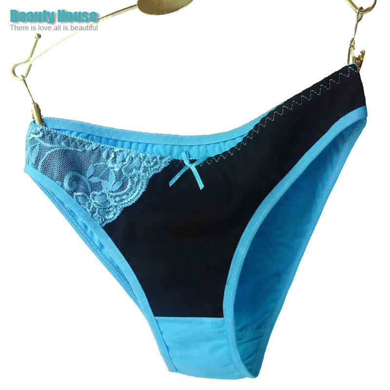 86990 Hot Sale Beiefs 2015 Patchwork Lace Women Cotton Panties