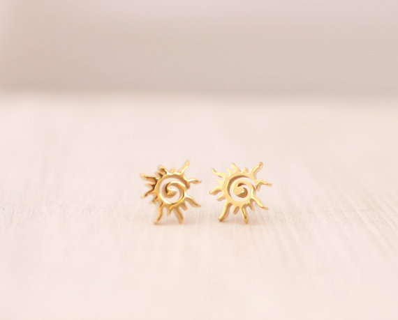 Wholesale 30pairs/lot 2015 Charm Fashion Gold Silver BFF Jewelry Vintage Celestial Sun Stud Earrings For WOmen Wedding Gift<br><br>Aliexpress