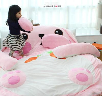 bear cartoon tatami sleeping pad floor double sleeping bag beanbag bed inmattress covers. Black Bedroom Furniture Sets. Home Design Ideas