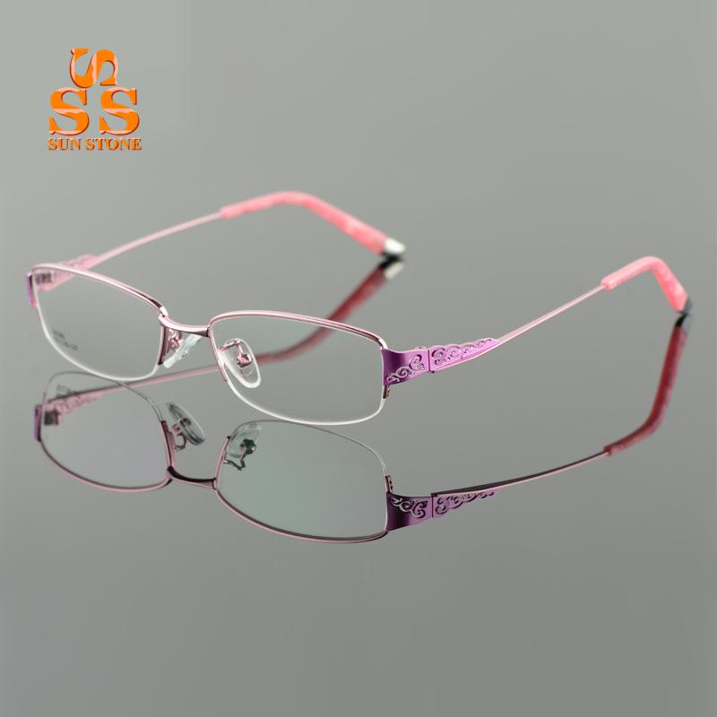 High End Women s Eyeglass Frames : Brand Designer High end Ultralight Titanium Alloy Glasses ...