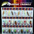 New Lot 30 pcs Kinds of Fishing Lures Crankbaits Hooks Minnow Bass Baits Tackle