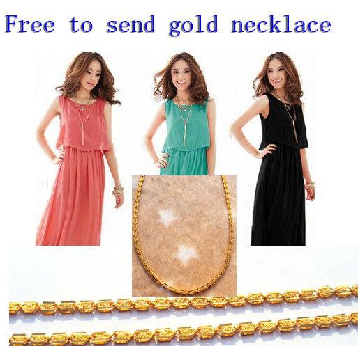 HOT! Free delivery gold jewelry gift Factory direct Promotion fiery NEW Summer Bohemia Chiffon dress Dresses son Chiffon beach(China (Mainland))