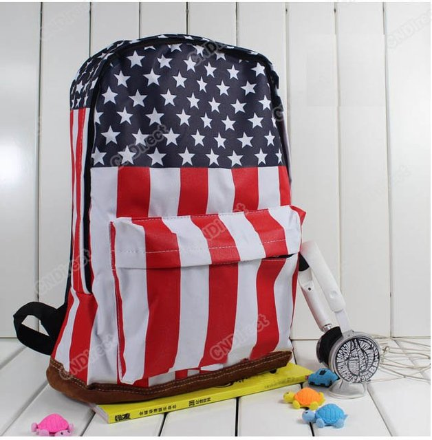 Unisex Canvas Handbag teenager School bag Book Campus Backpack bags UK US Flag wholesale retail drop shipping  HT76
