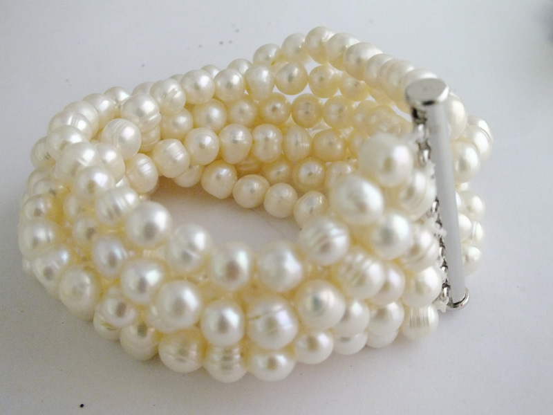 !! A-3915 Fashion Natural White Freshwtaer Pearl Beads Bracelet No.10 - Changzhou Day Colour Jewelry Co., Ltd. store