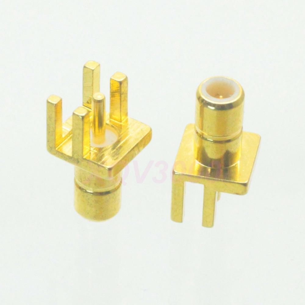 10pcs Connector SMB male plug pin solder PCB clip edge mount straight RF COAXIAL(China (Mainland))