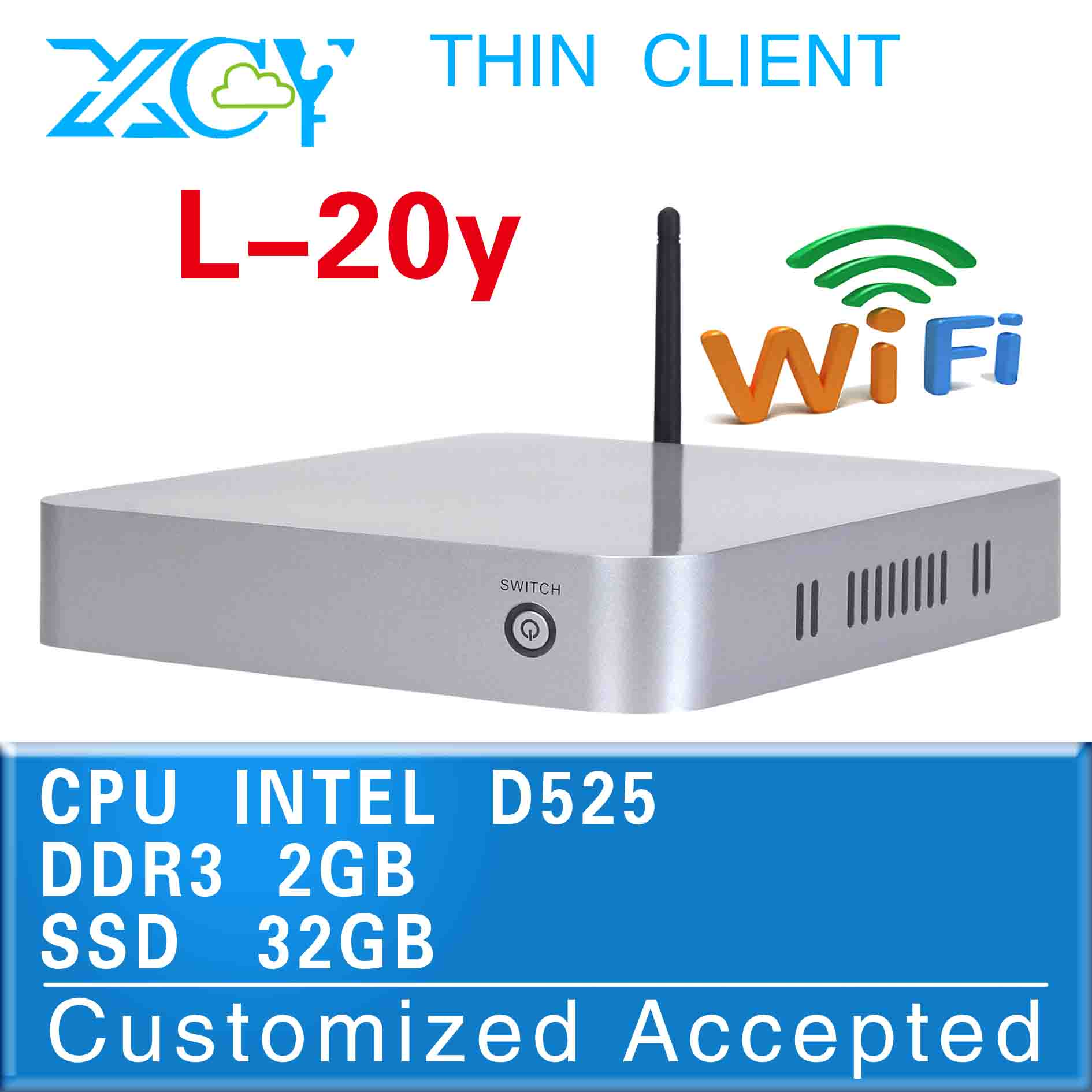 windows mini pc micro computer latest devices computer L-20Y D525 support win 7 XP system In Stock !(China (Mainland))