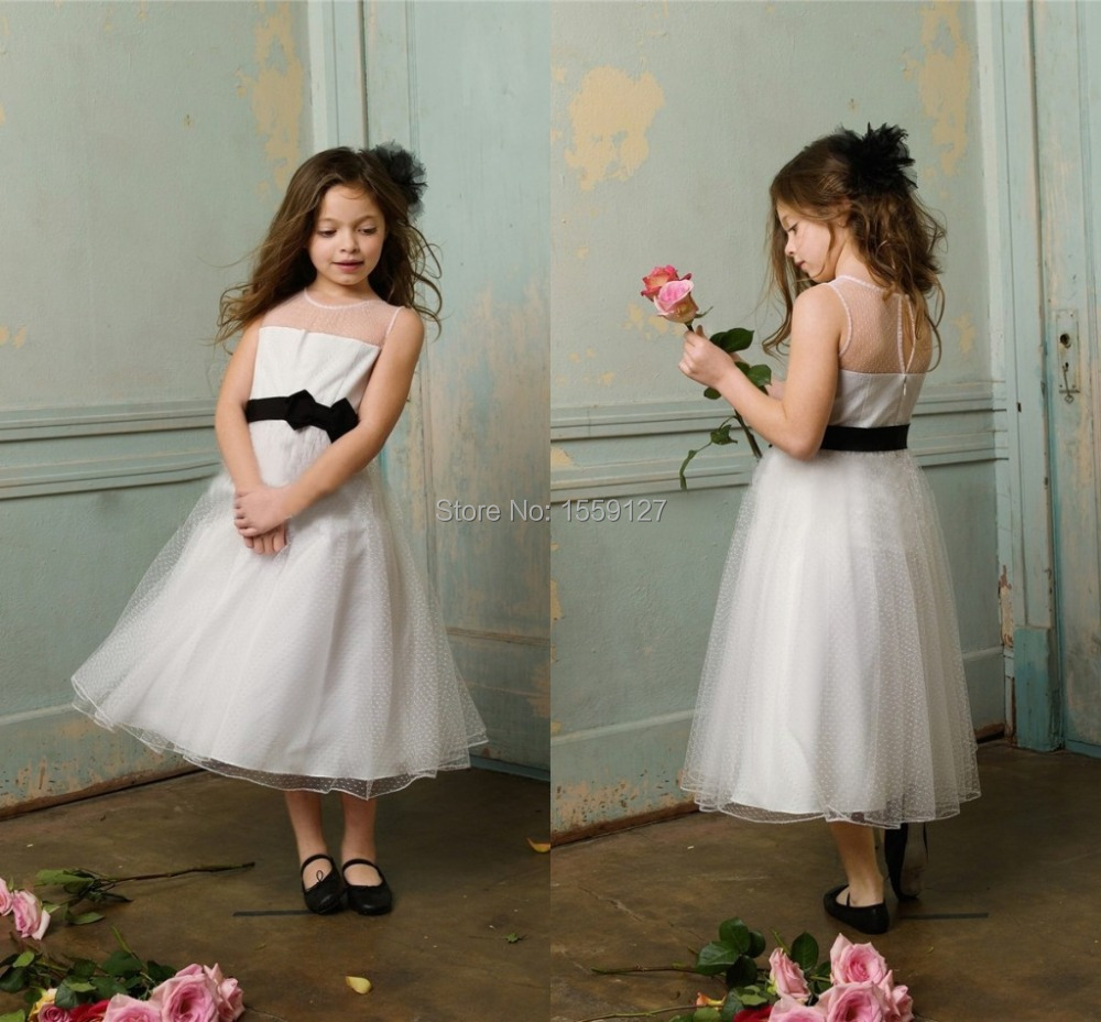 Black And White Flower Girl Dresses Fashion Life