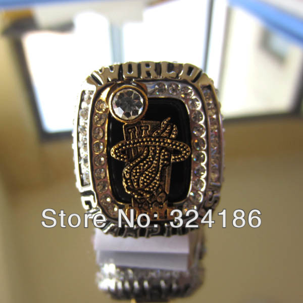 2012 Miami Heats Dwyane WADE Fine Silver Tone Championship Ring Replica Souvenir Sports Ring Souvenir(China (Mainland))