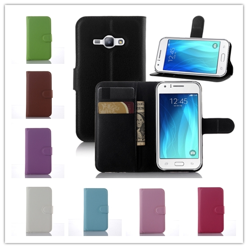 Luxury PU Leather Wallet Stand Flip Card Slot Phone Cover Fundas For Samsung Galaxy J1 ACE Case Coque J110 J110F J110H Phone Bag