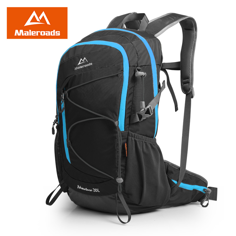 Maleroads Cycle Backpack Riding Daily Daypack Mochila For Camp Hike Trekking Rucksack College Student Schoolbag Teenagers 30L(China (Mainland))