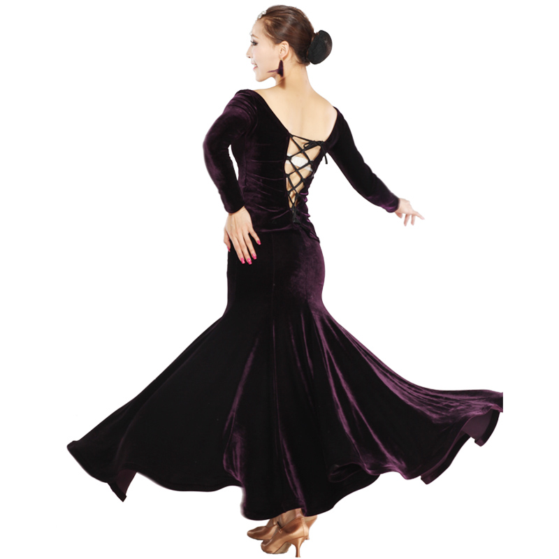 Mei Yu new velvet placed large modern dance ballroom dancing ballroom dancing skirt suit suit dress HB202Одежда и ак�е��уары<br><br><br>Aliexpress