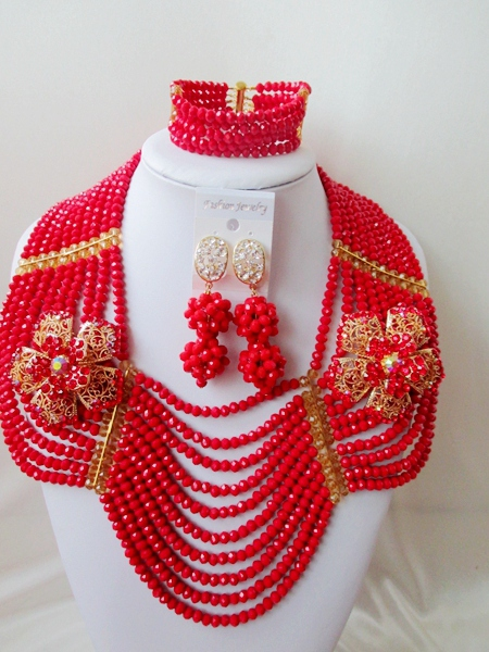 Fashion  NEW African Beads Jewelry Set Crystal Beads Necklace Set Nigerian Wedding African Jewelry Set Free shipping   XX-031<br><br>Aliexpress