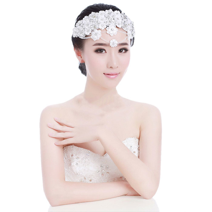 Best seller Handmade Lace Married Bride Headdress Wedding Dinner Party Hair Accessory May 11(China (Mainland))