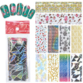 YZWLE 10 Designs DIY Nail Art Transfer Foil Decal Beauty Craft Decorations Accessories For Manicure Salon