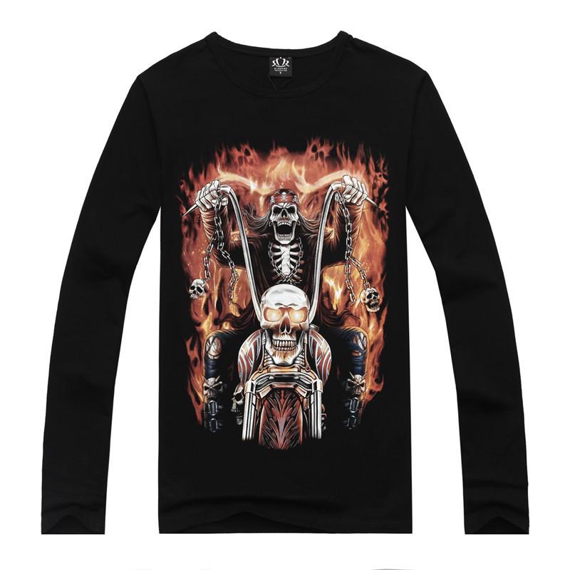2015 New Brand Design Summer Fashion Harley Skull Knight