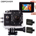 DBPOWER SJ4000 Action Camera Waterproof 12MP 1080p Helmet Sport Camera with 2 Batteries Full HD Action