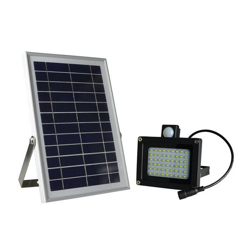 Outdoor Waterproof Solar Floodlight Motion Sensor 54 LED Street Focused LED Flag Light with Hardware for Flag Pole Lawn Driveway(China (Mainland))