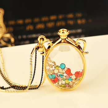 For nec  klace do not fade luxury perfume bottle necklace