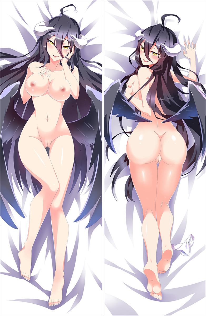 Japanese Anime Sexy Otaku Dakimakura Overlord Albedo Pillow Case Cover Hugging Body  SM1606