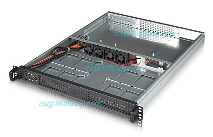 1U server chassis 1U4 -bay chassis + Huntkey 400W rated power +1155 copper radiator<br><br>Aliexpress