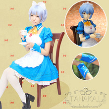 Field in the shop being evangelion EVA breaks beautiful COSplay LOLITA maid outfits